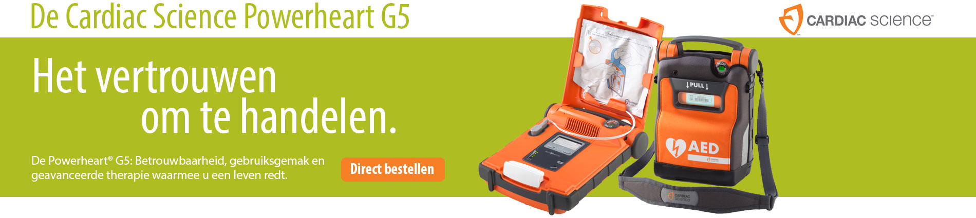 De nieuwe Cardiac Science Powerheart G5