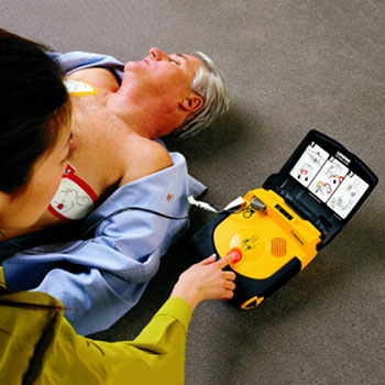 Physio Control LIFEPAK CR Plus AED in gebruik